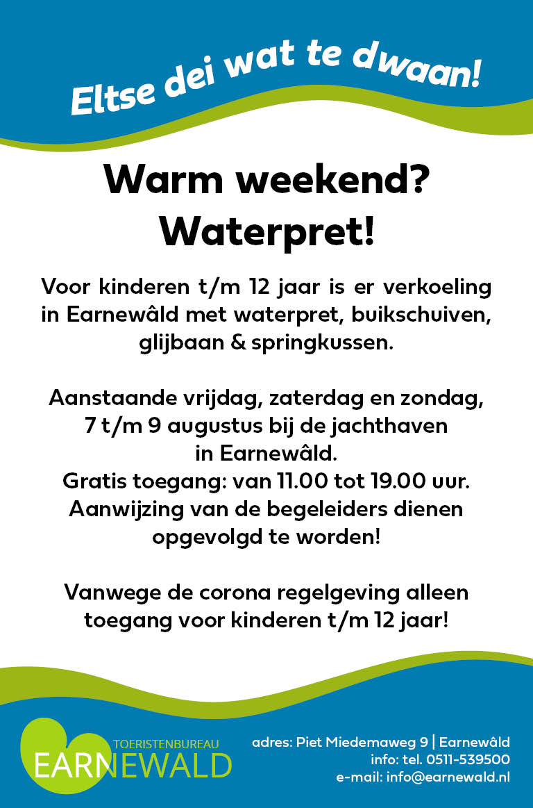 EARNEWALD ADVERTENTIE waterpret